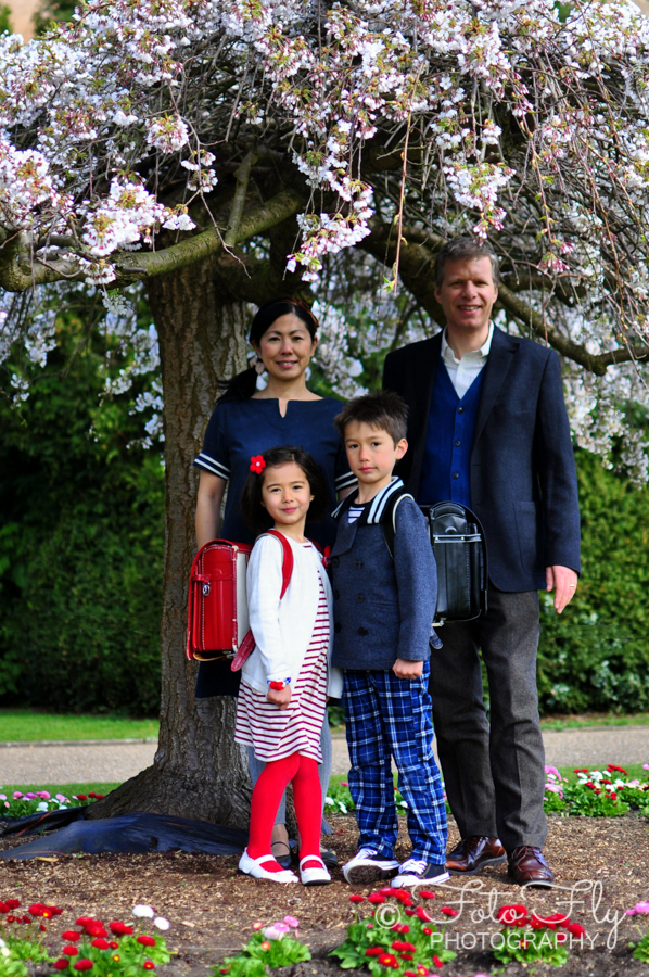 Sayuri and Andy's family in the park